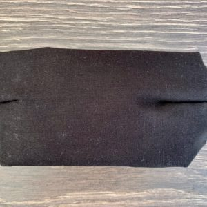 Gender Neutral Flat Black Double Layer Cotton Mask