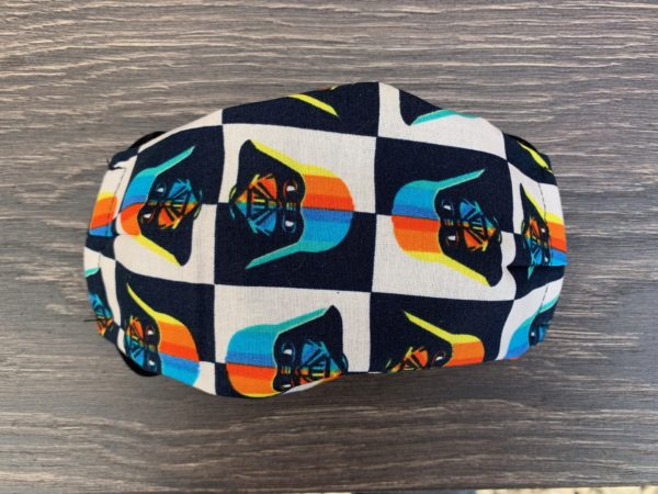 Gender Neutral Rainbow Vader Double Layer Cotton Mask
