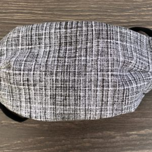 Men's Gray Stripe Double Layer Cotton Mask
