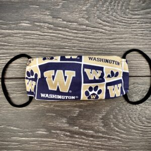 UW Huskies double layer cotton mask