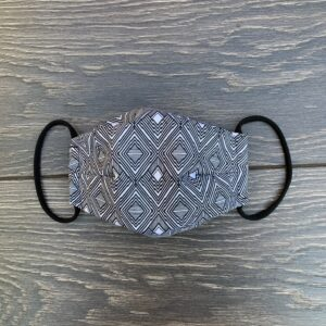 grey double layer cotton mask