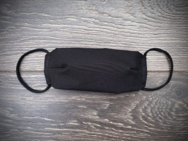black double triple layer cotton mask