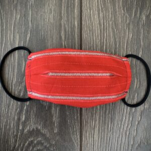 Red Zipper double layer cotton mask
