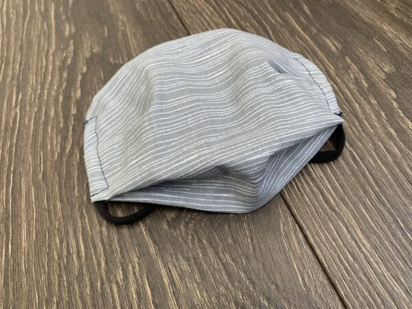 Grey Stripe Double Layer Cotton Mask