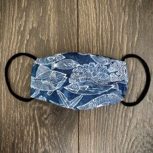 Blue Fish Double Layer Cotton Mask