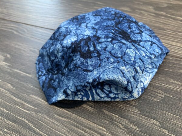 blue marble double layer cotton mask