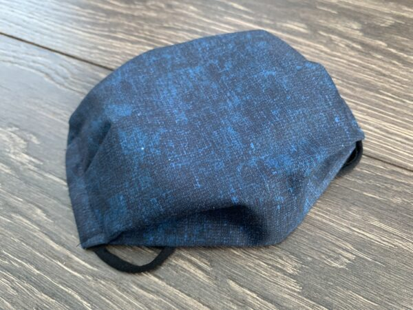 Dark Blue Double Layer Cotton Mask