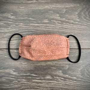 orange double layer cotton mask
