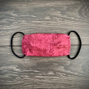 Pink double layer cotton mask