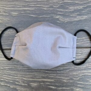 Solid Grey Double Layer Cotton Mask