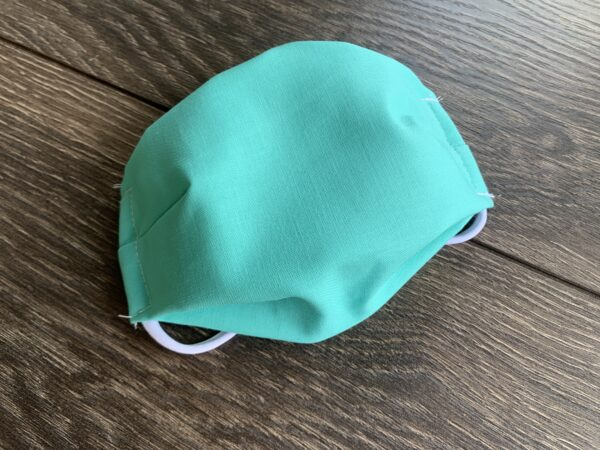pool teal cotton mask