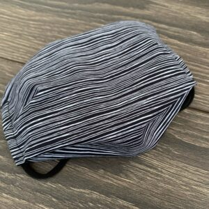 white stripe double layer cotton mask