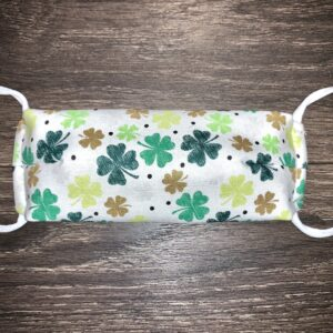 clover on a double layer cotton mask