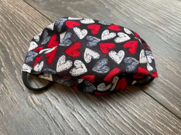 amore hearts cotton mask
