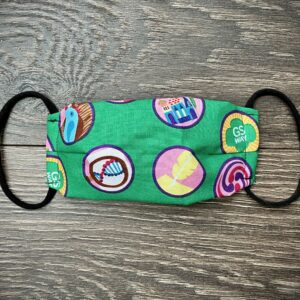 Green Girl Scout Cotton Mask