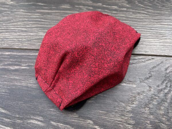 red double triple layer cotton mask