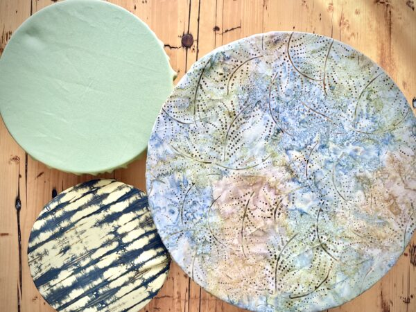 shades of green cotton bowl covers